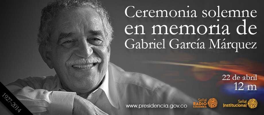 GABRIEL GARCIA MARQUEZ HOMENAJE BOGOTA